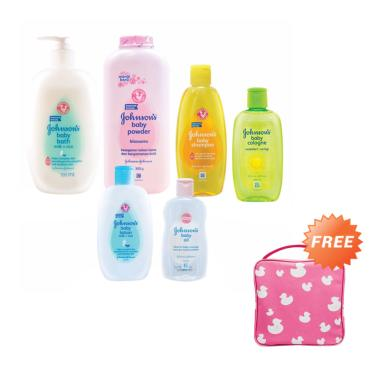 Johnson's Happiness Package B [Free Toiletries Bag Pink]