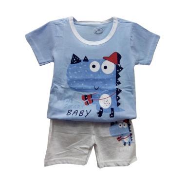 Import Kid 030 Import Stelan Baju Bayi Laki-laki - Blue