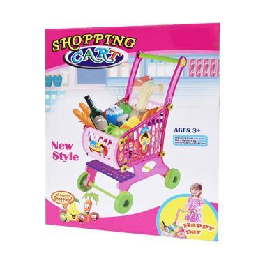 SNETOYS Shopping Cart Trolley Mainan Keranjang Belanja Anak