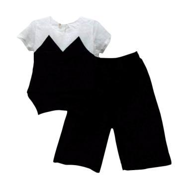 Import Kid 8055 Setelan Baju Anak Perempuan - Black