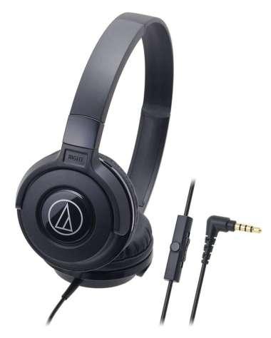 harga FREE ONGKIR Audio Technica Portable Headphone ATH-S100iS BK (EX) - Black Blibli.com
