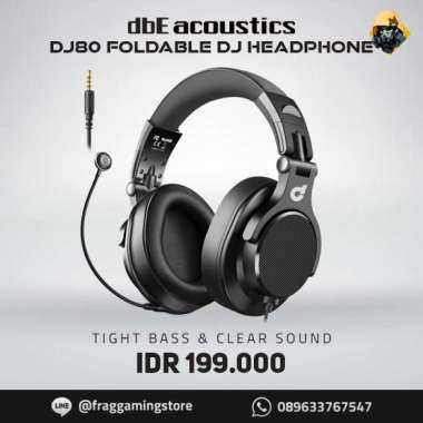harga FREE ONGKIR dbE DJ80 - DJ 80 Foldable DJ Headphone with Detachable Microphone Blibli.com
