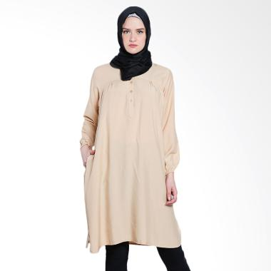 Koesoema Clothing Stella Midi Dress ... nik Muslim Wanita - Cream