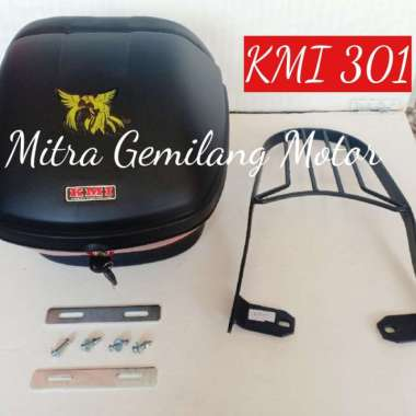 harga BOX KMI 301 PLUS BREKET TINGGAL PASANG - HARAP KONFIRMASI JENIS MOTOR - motor lainnya MULTICOLOR Blibli.com