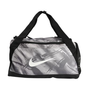 NIKE Brasilla Aop Men Training Duff Bag - Grey Black [BA5433-027]