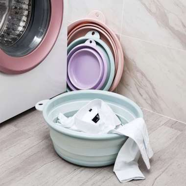 harga Basin Baskom Ember Lipat Cuci Baju Mancing Foldable Biru M Blibli.com