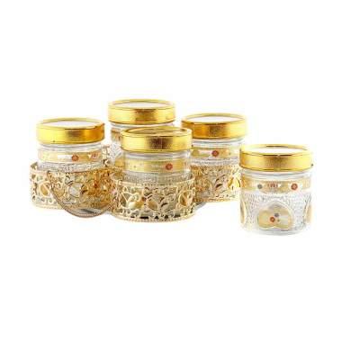 Vicenza GB5 Camelia Candy Jar Set Toples