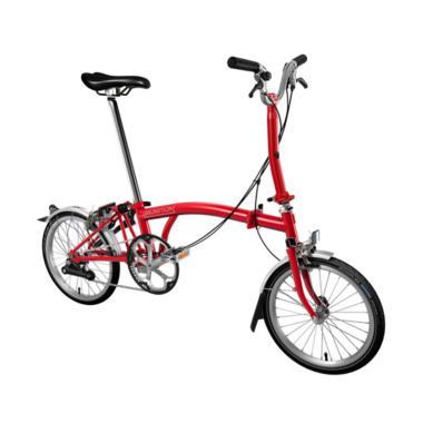Brompton M2L 2018 Sepeda Lipat - Red