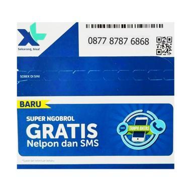 XL Axiata Nomor Cantik 0877 8787 6868 Kartu Perdana [4G LTE]