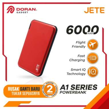 Power Bank 6000 MaH Powerbank Fast Charging JETE A1 - Garansi 2 Tahun Gold