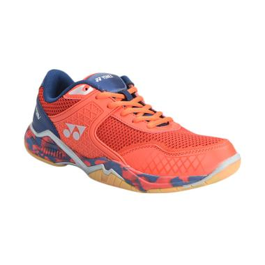 YONEX Badminton Shoes Super Ace V Sepatu Badminton Pria - Red/Navy