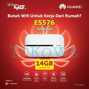 harga MODEM HUAWEI E5576 4G LTE FREE TELKOMSEL 14GB UNLOCK ALL OPERATOR MULTY COLOUR Blibli.com