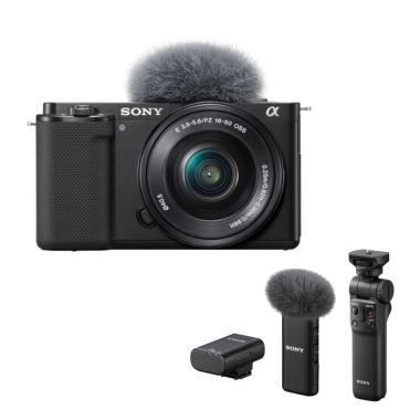 harga Pre-order Sony ZV-E10 Mirrorless Camera with 16-50mm Lens - Black PWP GP-VPT2BT & ECM-W2BT Blibli.com
