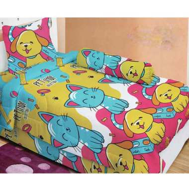 Lady Rose Petshop Set Sprei - Blue [120 x 200 cm]