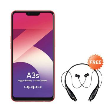 harga OPPO A3S Smartphone [32GB/ 3GB] + Free Headset Bluetooth Sport Blibli.com