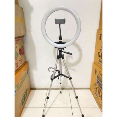 harga NO ONGKIR RING LIGHT LED 33CM Lampu 33 cm Lampu Ringlight + TRIPOD 3110 Blibli.com