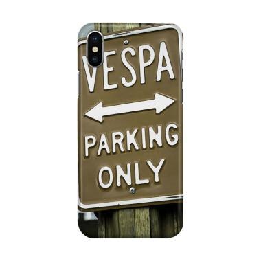 harga Indocustomcase Vespa Parking Poster Cover Hardcase Casing for iPhone X Blibli.com