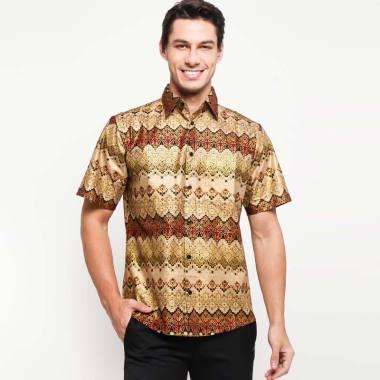 Batik Arjunaweda Men Hem Motif Renda Batik Pria - Cokelat [53293098]