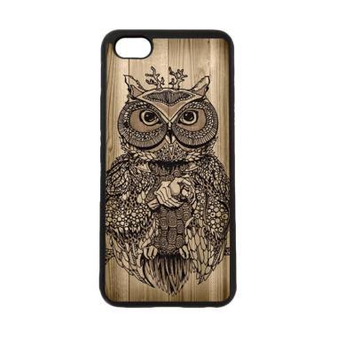 harga HEAVENCASE Burung Kayu Owl Wood Softcase Casing for ViVO Y81 - Hitam Motif Blibli.com