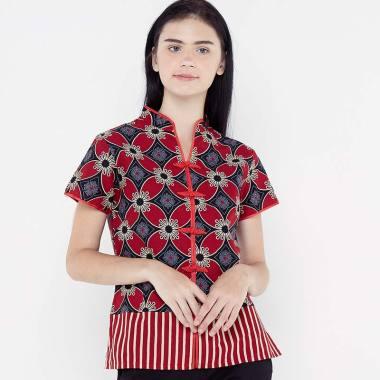 harga FBW Cheongsam Imlek Kawung Batik Blouse Wanita Blibli.com