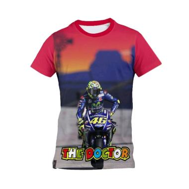 harga Kaos Urban Jersey Moto GP Valentino Rossi VR46 Kaos Olahraga Pria - Merah [AZ0082] Blibli.com
