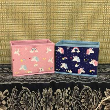 bbe4c8491d90 Sanrio Unicorn Toybox Tempat Penyimpanan Mainan dan Buku Anak [Ukuran Kecil]