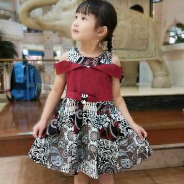 Evercloth Via Kids Dress Batik Anak Perempuan