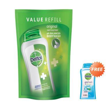 Buy 1 Get 1 Free - Dettol Pouch Original Body Wash [410 g] + Free Dettol Cool Body Wash [100 mL]