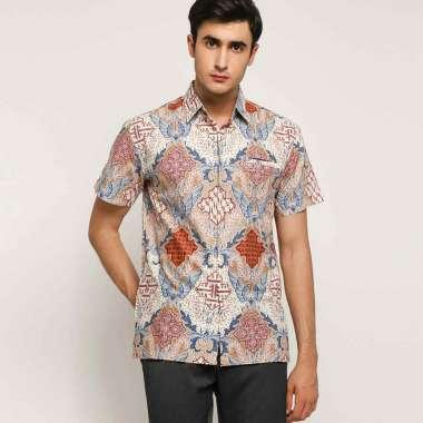 harga Batik Waskito Cotton Batik Culture Shirt Kemeja Lengan Pendek Pria - White [HB 186145] Blibli.com