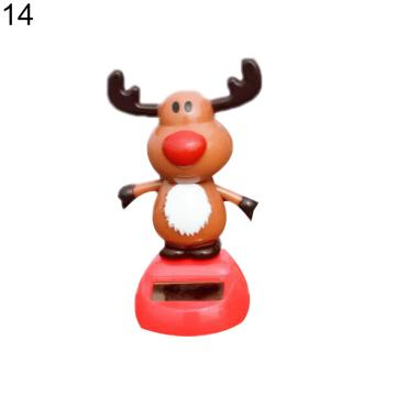 harga Solar Power Santa Snowman Elk Shaking Head Car Dashboard Ornament Christmas Gift #14 Blibli.com