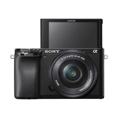 harga SONY Alpha A6100 Kit 16-50mm Mirrorless Digital Camera BLACK Blibli.com