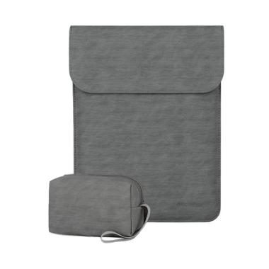 harga Bag Zone BiaoNuo PU Leather Softcase Sleeve Laptop 14 inch - Grey Blibli.com