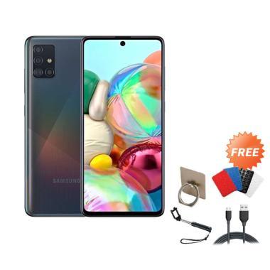 harga Samsung Galaxy A71 Smartphone [128GB/ 8GB] + Free I-ring/ Gurita/ Tongsis/ Cable Data BLACK Blibli.com