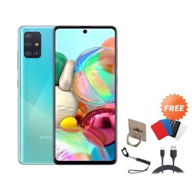 harga Samsung Galaxy A71 Smartphone [128GB/ 8GB] + Free I-ring/ Gurita/ Tongsis/ Cable Data blue Blibli.com