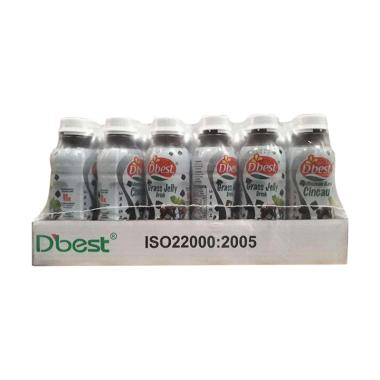WHS - D'best Grass Jelly Minuman [24 pcs x 320 mL/ Kemasan Botol]