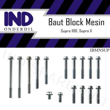 harga IND Onderdil Baut Blok Mesin Crank Case Kiri Kanan Motor for Honda Supra 100 or X Lama Blibli.com