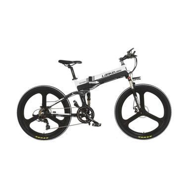 harga Lankeleisi Smart Moped Elite Version Sepeda Elektrik Lipat - Black White [48V 10.4A/  XT750] Blibli.com