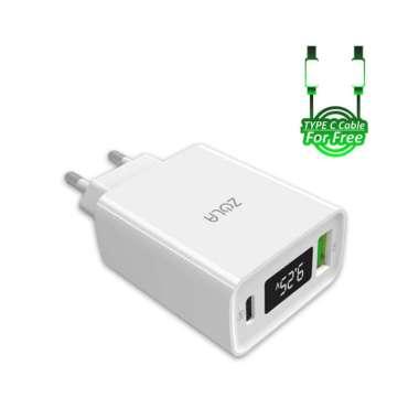 harga Zola Charger Turbo Max Gen2 QC 3.0 & PD For Ipad pro & Macbook Max 30W Putih