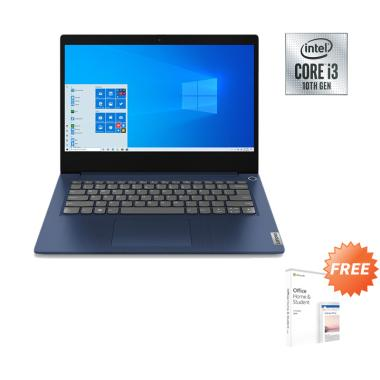 harga Lenovo Ideapad Slim3i 81WD00PHID Notebook - Blue [I3-1005G1/ 4GB/ 512GB SSD/ MX330 2GB/ 14.0FHD/ Win10] + Free Office Home Student Blibli.com