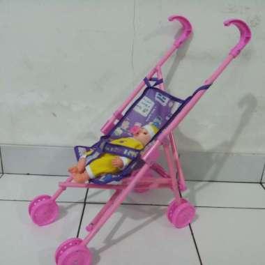 harga Stoller dorongan boneka bayi kereta boneka susan dot empeng 1 set mura