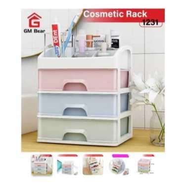 harga GM Bear Rak Tempat Kosmetik 1231-Cosmetic Storage MULTICOLOR Blibli.com