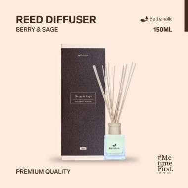harga Reed Diffuser Aromatherapy Berry & Sage 150ml Bathaholic Blibli.com