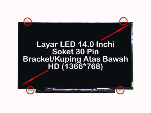 harga HP Layar LED LCD Laptop HP 14 14-ac186TU 14-ac187TU 14-ac188TU 14-ac603TU Series LKUN140S0HDAB30 Hitam Blibli.com