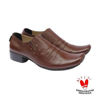 Handmade Cevany Rampel Slip On Sepatu Pria - Brown