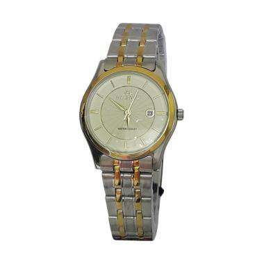 Hegner 600078 Analog Jam Tangan Wanita - Silver Gold