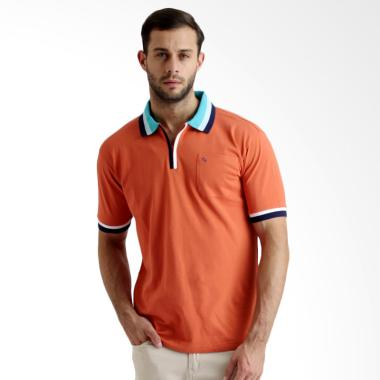Labette 102630106 Polo Shirt With Zipper - Orange