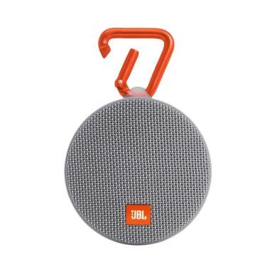 AEON - JBL Clip 2 Waterproof Bluetooth Speaker - Abu-abu