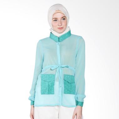 Rauza Rauza Blouse Sabin Batik Atasan Muslim - Hijau