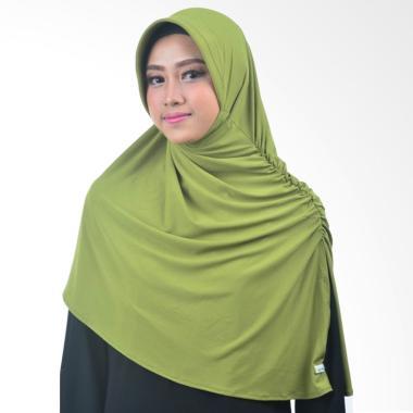 Atteena Hijab Annida Aznie Basic Jilbab Instant - Dark Green