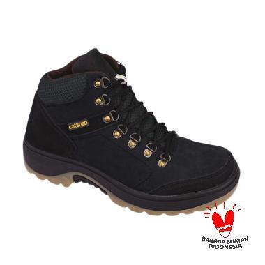 Catenzo RI 612 Novell Kulit Sepatu Boots - Black
